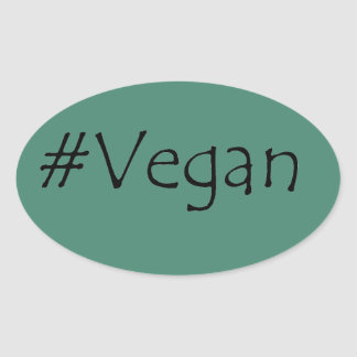 #Vegan Ovalt Klistermärke