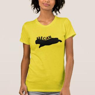 Vegan som hoppar kaninen tee shirt