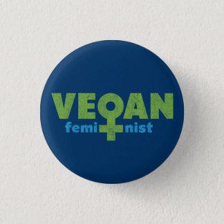 Veganfeminist Mini Knapp Rund 3.2 Cm