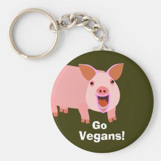 Vegangris Keychain Nyckel Ringar