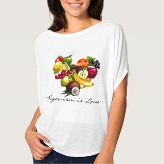 Veganismen är kärlek tee shirts