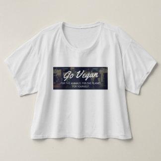 Vegankvinna går den påsiga vegetariska aktivisten t-shirts