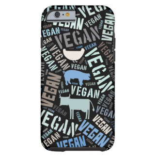Veganordmoln med en ko, en gris och en höna tough iPhone 6 fodral