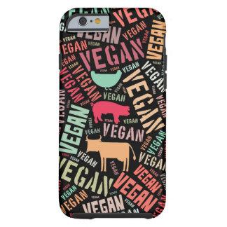 Veganordmoln med en ko, en gris och en höna tough iPhone 6 skal