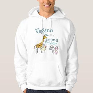 Vegans är den djura vänskapsmatchen sweatshirt
