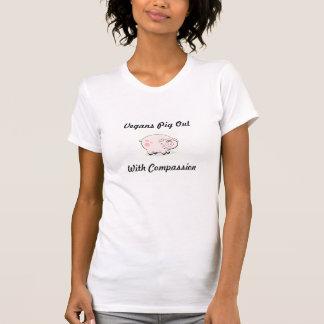 Vegansgris ut, med medkänsla tshirts