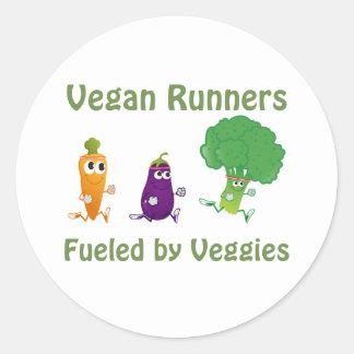 Veganspringer - som tankas av Veggies Runt Klistermärke