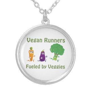 Veganspringer - som tankas av veggies silverpläterat halsband