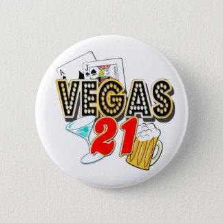 Vegas 21st födelsedag standard knapp rund 5.7 cm