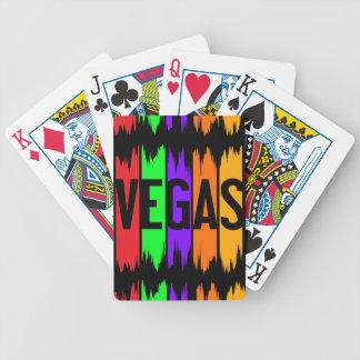 Vegas cykel som leker kort spelkort