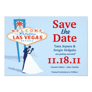 Vegas spara datera! 12,7 x 17,8 cm inbjudningskort