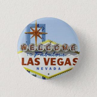 Vegas undertecknar dag mini knapp rund 3.2 cm