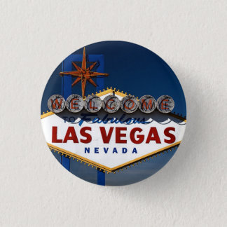 Vegas undertecknar skymning mini knapp rund 3.2 cm