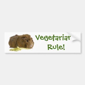 Vegetarian härskar! bildekal