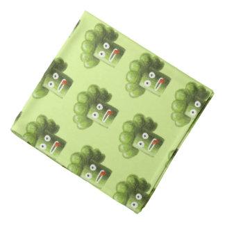 Vegetariskt mönster för grön rolig tecknadbroccoli bandana