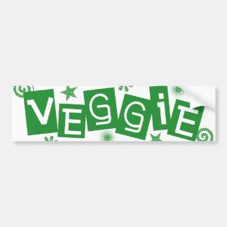 Veggie för vegetarian- och Vegansbildekal Bildekal