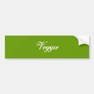 Veggie. Grönt. Slogan. Bildekal