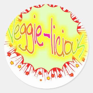 veggie-licious runt klistermärke