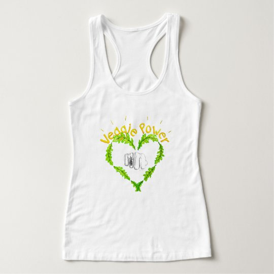 Veggie Power Women's Slim Fit Racerback Tank Top