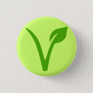 veggiepride, vegan, vegetarian, vegetarian, vegans mini knapp rund 3.2 cm