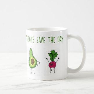 Veggies sparar dagavokado- och rädisamuggen kaffemugg