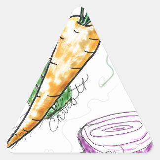 Veggies Triangelformat Klistermärke