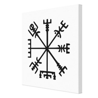Vegvísir (Viking kompass) Canvastryck