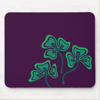 Veined Shamrocks Mousepad Musmatta