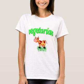 Vektorvegetarian med kon t shirt
