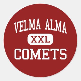 Velma Alma - komet - mittet - Velma Oklahoma Runt Klistermärke
