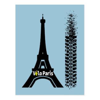 Velo Paris cykelEiffel torn Vykort