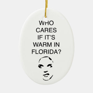 Who cares if it's warm in Florida fun ornament