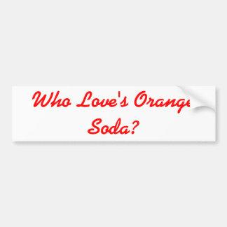 Vem kärlek orange klistermärke för sodavattenKenan