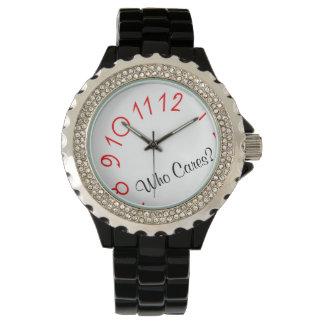Vem omsorg med numrerar den fallande svart klockan armbandsur