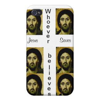 Vem som tro/Jesus sparar fodral iPhone 4 Fodral