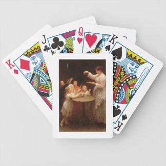 """""""Vem talar först?"""", (olja på kanfas) Spelkort"""
