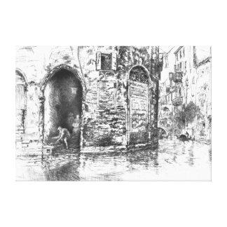 Venedig dörröppningar 1880 canvastryck