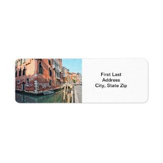 Venedig hus returadress etikett