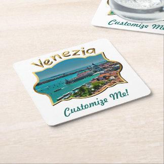 Venedig italien - antennen beskådar underlägg papper kvadrat