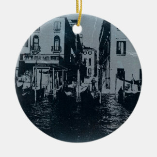 Venedig italien rund julgransprydnad i keramik