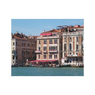 Venedig italien, trottoarCafe, gondol, storslagen Canvastryck