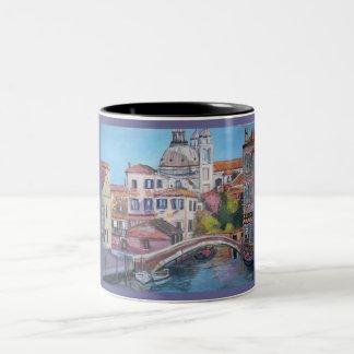 Venedig kanal, italien - svarten 11 uns Två-Tonar Två-Tonad Mugg