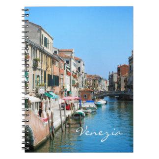 Venedig reser anteckningsboken anteckningsbok med spiral
