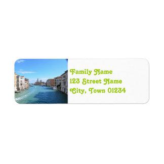 Venedig Returadress Etikett