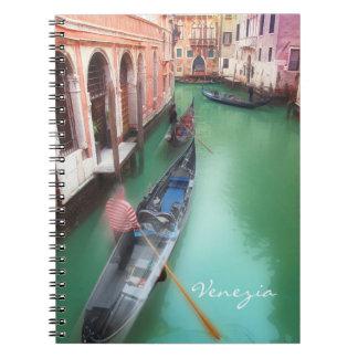 Venedig vintageanteckningsbok anteckningsbok