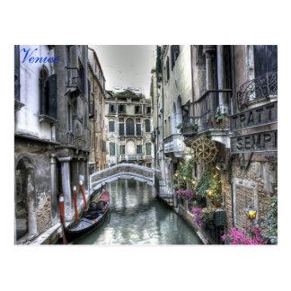 Venedig - vykort för vattengataplats