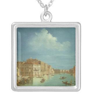 Venetian beskåda, det 18th århundradet silverpläterat halsband