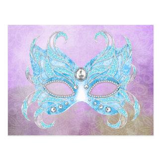 Venetian isblått maskerar vykort