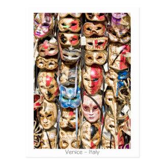Venetian maskerar vykort