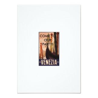 Venezia italien, KOM TILL VÅRT PARTY! 12,7 X 17,8 Cm Inbjudningskort